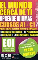 Se abre plazo de admisión en la EOI - Las Navas del Marqués