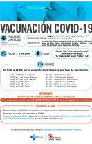 Nuevos llamamientos para vacunaciones los días 1, 4 y 5 de junio