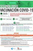 28/MAYO Segundo llamamiento para vacunados con Astra Zeneca entre el 16/FEB y el 5/MAR