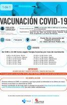 Vacunaciones para los días 7, 8, 9 ,10 y 11 de junio