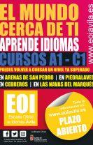 Preinscripción EOI Las Navas del Marqués Curso 2021-2022