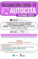 Llamamiento vacunación segunda dosis COVID-19 AUTOCITA